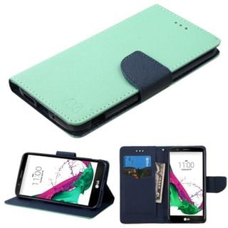 Insten Green/ Blue Leather Case Cover with Stand/ Wallet Flap Pouch For LG G5