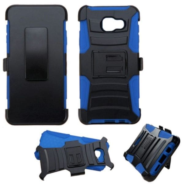 Insten Hard PC/ Silicone Dual Layer Hybrid Case Cover with Stand/ Holster For Samsung Galaxy A3 (2016)