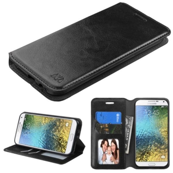 Insten Leather Case Cover with Stand/ Wallet Flap Pouch/ Diamond/ Photo Display For Samsung Galaxy E5
