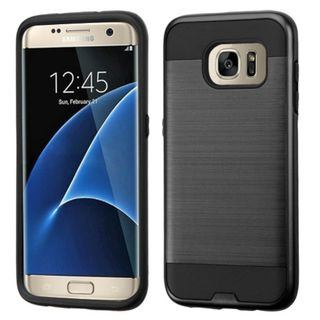 Insten Hard PC/ Silicone Dual Layer Hybrid Rubberized Matte Case Cover For Samsung Galaxy S7 Edge
