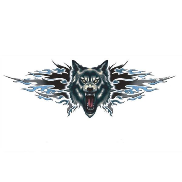 Pilot Automotive 6-inch x 18-inch Wolf Attack Vehicle Car Decal Stickers