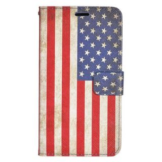 Insten Colorful United States National Flag Leather Case Cover with Stand/ Wallet Flap Pouch For Samsung Galaxy S6 Edge Plus