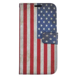 Insten United States National Flag Leather Case Cover with Stand/ Wallet Flap Pouch/ Photo Display For Samsung Galaxy S7
