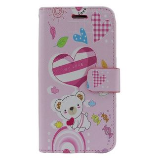 Insten Colorful Bear Leather Case Cover with Stand/ Wallet Flap Pouch/ Photo Display For ZTE Prestige