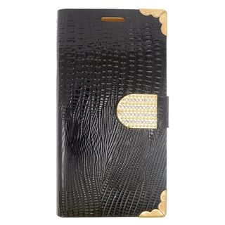 Insten Black/ Gold Leather Case Cover with Wallet Flap Pouch/ Diamond For Samsung Galaxy Note 5