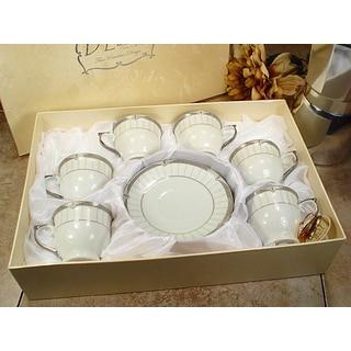 D'Lusso Designs White Porcelain 12-Piece Classic Design Espresso Set