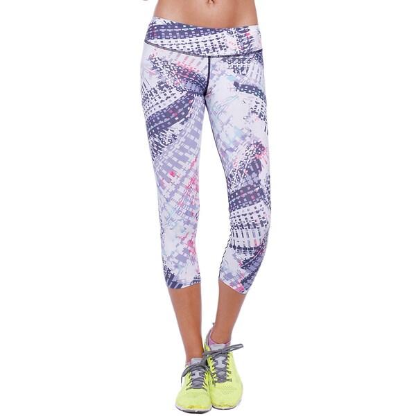 Nikibiki Activewear Women's Purple Nylon, Spandex Sublimation Capri Leggings