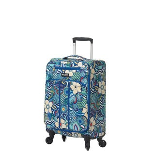 Mia Toro Italy Fiore 19-inch Expandable Fashion Carry-on Spinner Suitcase