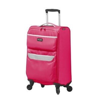 Mia Toro Italy Bernina 19-inch Expandable Carry-on Spinner Upright Suitcase