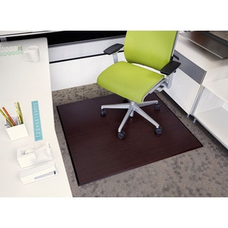 Cherry Eco Bamboo 42-inch x 48-inch Deluxe Tri-Fold Rectangular Chair Mat
