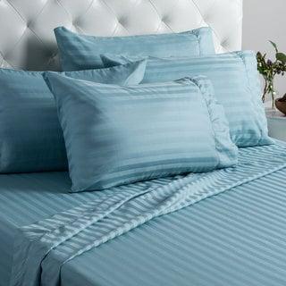 Home Fashion Designs Jameson Collection Luxury 1,000 Thread Count Cotton Rich Six-piece Dobby Stripe Sheet Set