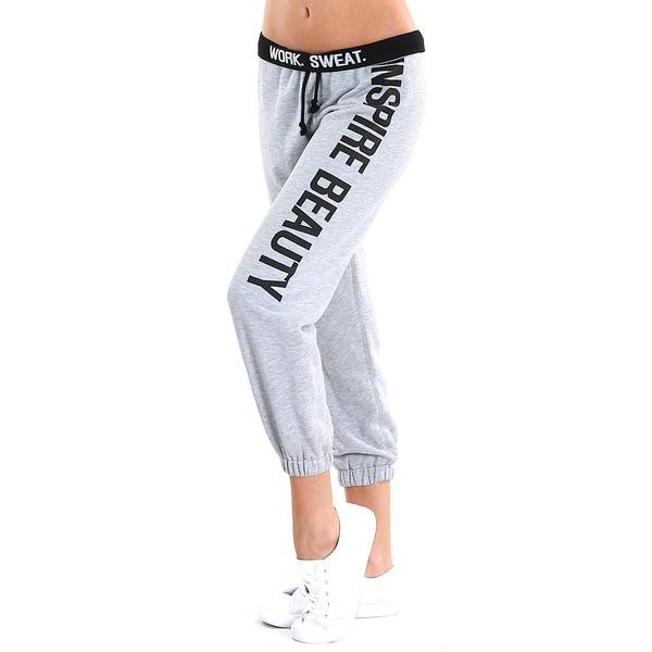Nikibiki Activewear Women's Grey Cotton-blended Sweat Pants 18827701