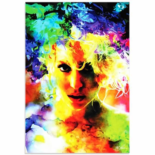 Mark Lewis 'Lady Gaga Study' Limited Edition Pop Art Print on Metal or Acrylic