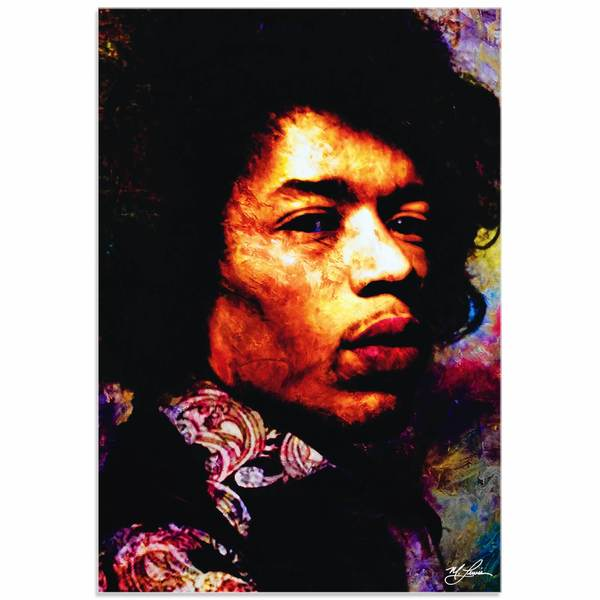 Mark Lewis 'Jimi Hendrix Imagination Key' Limited Edition Pop Art Print on Metal or Acrylic