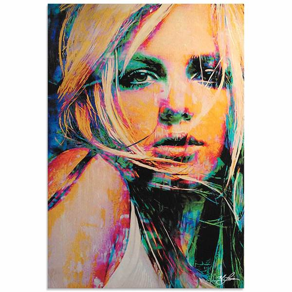 Mark Lewis 'Britney Spears Snow Blind' Limited Edition Pop Art Print on Metal or Acrylic