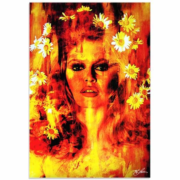 Mark Lewis 'Bridget Bardot Life Captured' Limited Edition Pop Art Print on Metal or Acrylic
