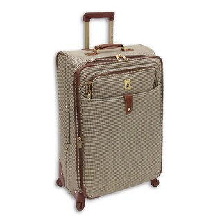 London Fog Chelsea Collection 25-inch Expandable Spinner Upright Suitcase