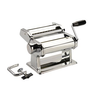 Homemaker Stainless Steel Pasta Maker with Fettuccine and Spaghetti Attachments