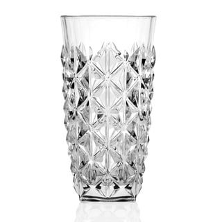Enigma Collection High-ball Clear Drinking Glasses (Set of 6)