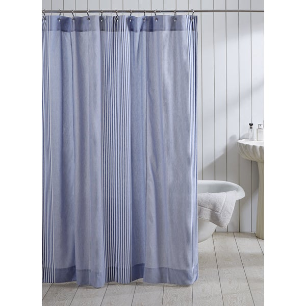 Frankie Stripe Cotton Shower Curtain