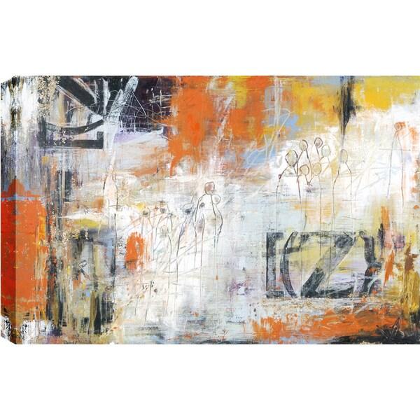 Hobbitholeco., Christina Lovisa, Easy Come Easy Go, Abstract, Hand Applied Gel Brush Finish Canvas