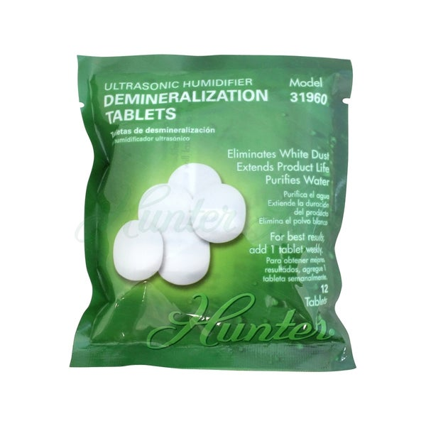 Hunter Ultrasonic Humidifier 12-pack Demineralization Tablets 18828169