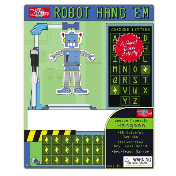 T.S. Shure Hang Em Robot Wooden Magnetic Hangman Game