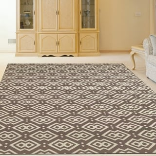 Admire Home Living Bronte Disc Dark Beige Area Rug (7'10 x 10'6)