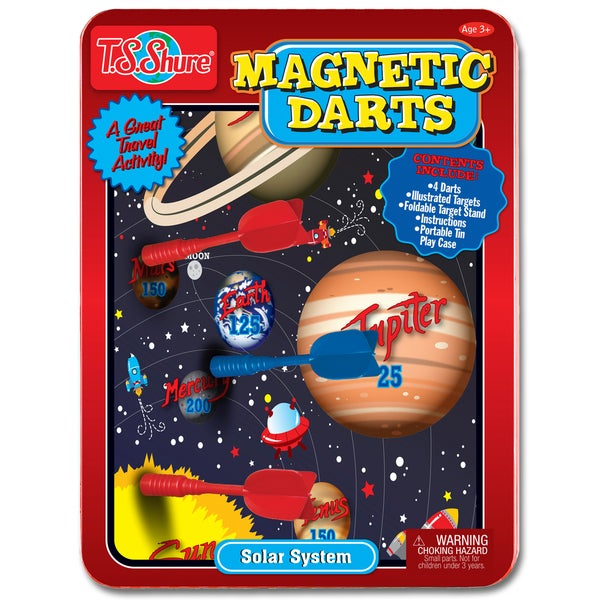T.S. Shure Solar System Magnetic Dart Game Tin