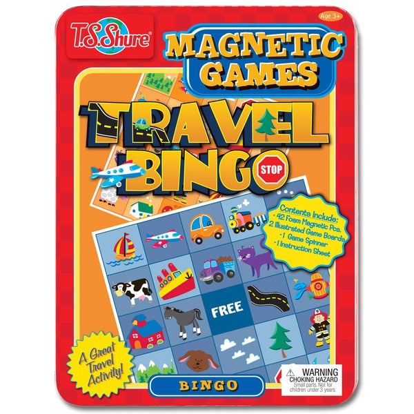 T.S. Shure Travel Bingo Game Tin Play Set
