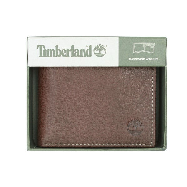 Timberland Men's Blix Brown Slimfold Wallet