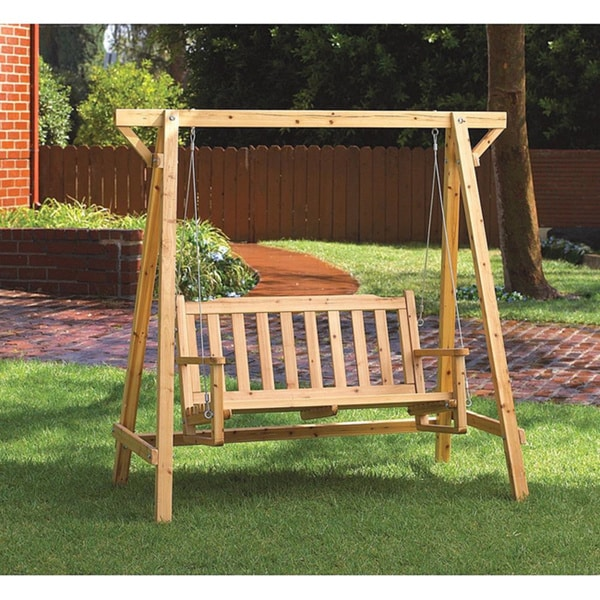 Paradise Wooden Outdoor Swing
