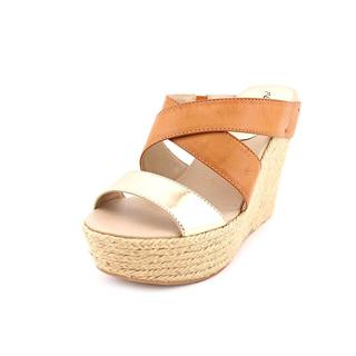 Kenneth Cole Reaction Women's Oscar Rent Her Tan Faux-leather Espadrille Sandals
