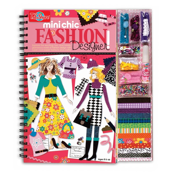 T.S. Shure Mini Chic Fashion Designer Book and Kit