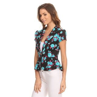 MOA Collection Women's Floral Blazer Jacket