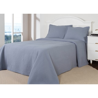 Diamond Quilted Cotton 3-piece Quilt Set