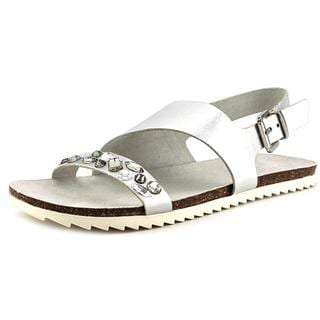 Kenneth Cole Reaction Women's Slim ZO 3 OH Silver Leather Low-heel Slingback Sandals