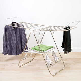 Everyday Home Chrome Deluxe Folding Gullwing Drying Rack
