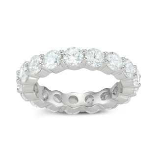 Gioelli Sterling Silver 4mm Eternity Cubic Zirconia Band