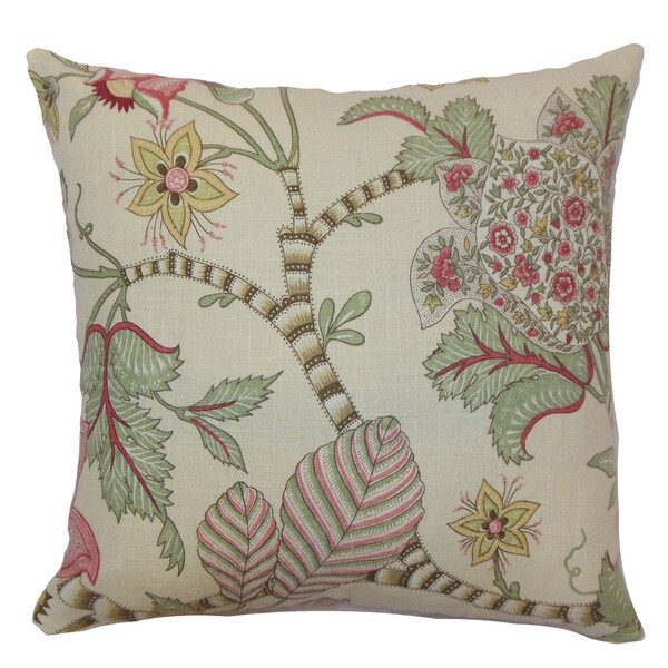 Elodie Floral Throw Pillow Cover