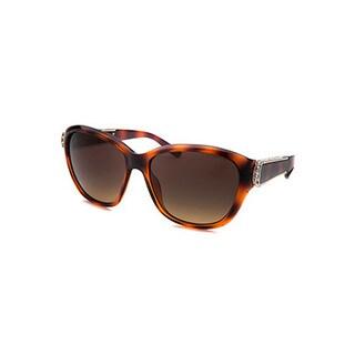 Chloe Women's Tortoise Crystal-accent Square Sunglasses