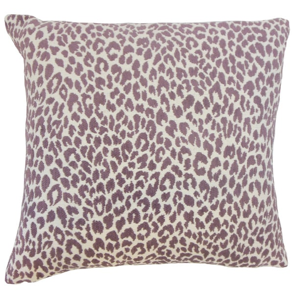 Pesach Animal Print Throw Pillow Cover Orchid 18831627