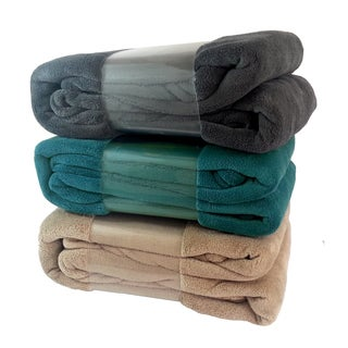 Solid Colored 90-inch Fleece Throw Blanket