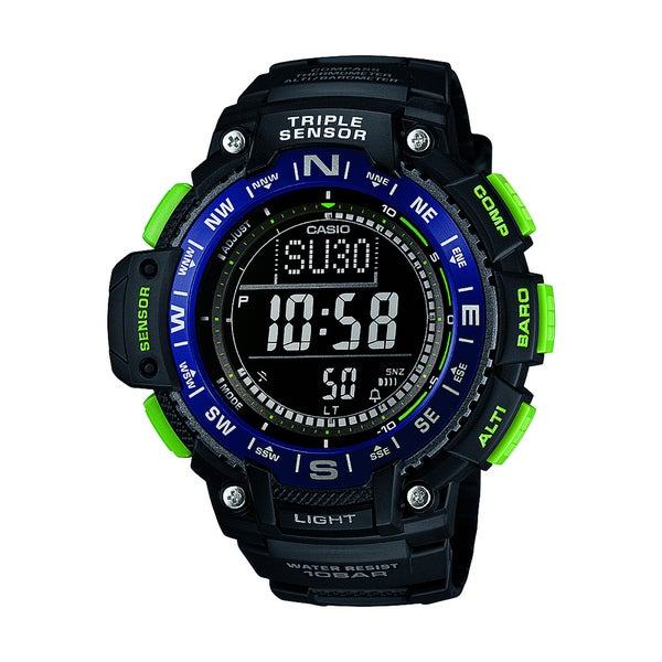 Casio Mens Triple Sensor Digital Display Quartz Black Watch