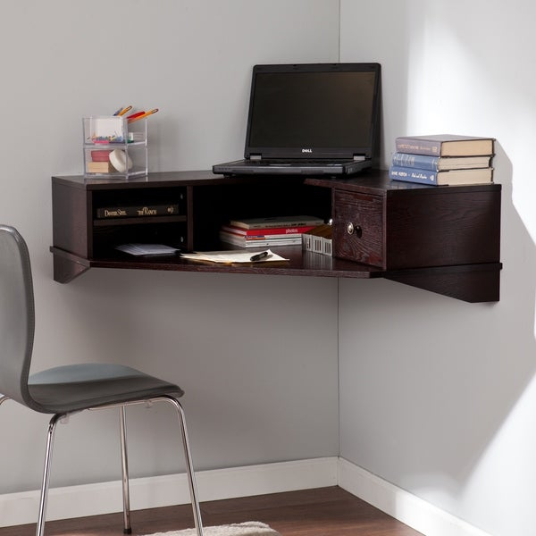 Upton Home Renfro Wall Mount Corner Desk (As Is Item) - 91003010 ...