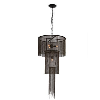 Metal 2-tier 4-light Hardwired Chandelier
