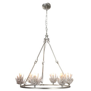 Coral Accent 28-inch x 28-inch x 20-inch 6-light Chandelier