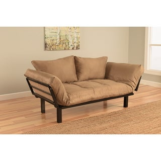 Somette Eli Spacely Peat Suede Daybed Lounger
