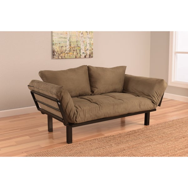 Somette Eli Spacely Olive Suede Daybed Lounger