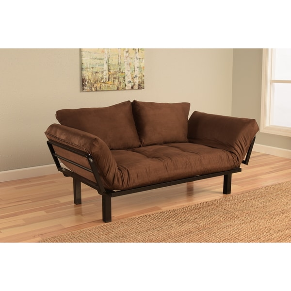 Somette Eli Spacely Chocolate Suede Daybed Lounger